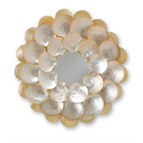 Currey & Company Mother-of-Pearl Wall Mirror