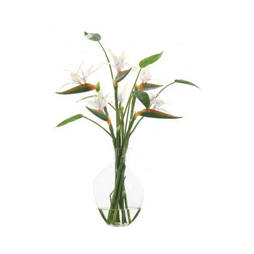 NDI  Bird of Paradise White, Glass Odd Bubble