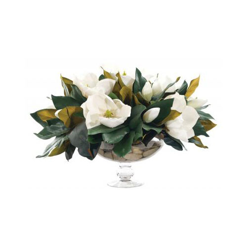 NDI  Magnolia | Glass Low Pedestal | Cream White