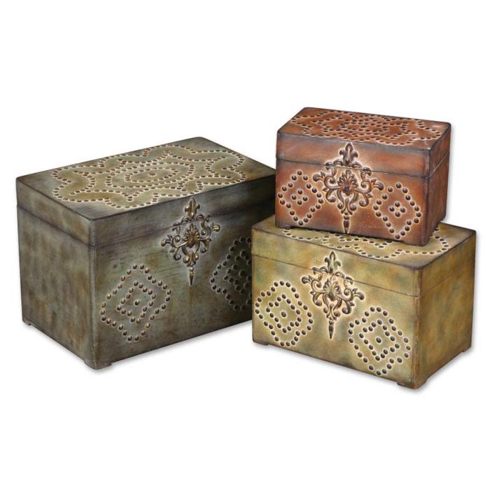 Uttermost Hobnail, Boxes, S/3