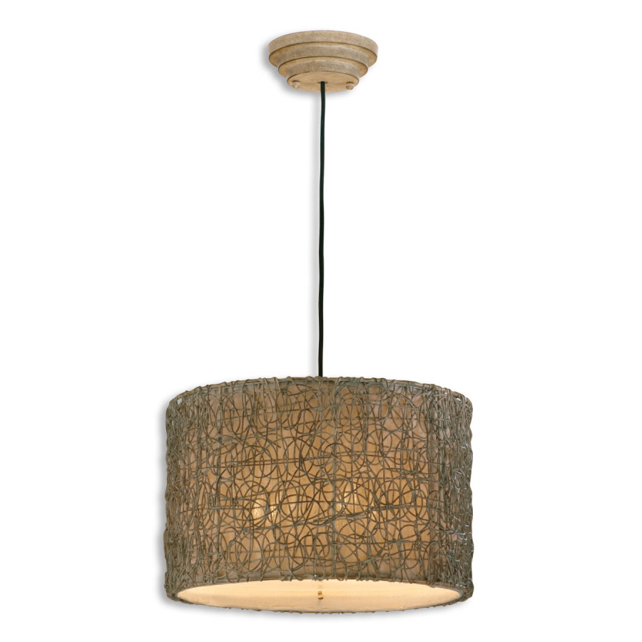 Uttermost Knotted Rattan Light, Hanging Shade