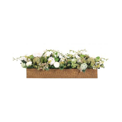 NDI  Lilac Hydrangea Cream Green | Wood Trough