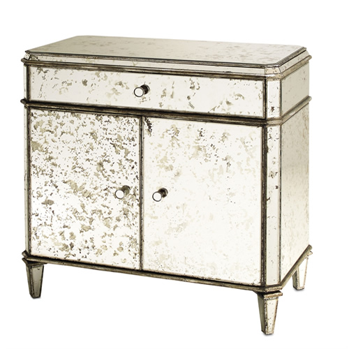 Currey & Company Antiqued Mirror Sideboard