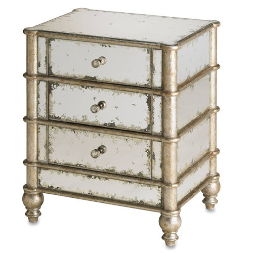Currey & Company Harlow Three Drawer Chest