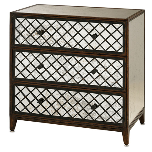 Currey & Company Sabrina Three Drawer Chest - Large