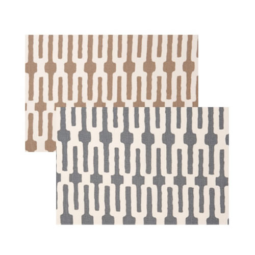 Vietri Slate Link/Taupe Link Accent Placemat