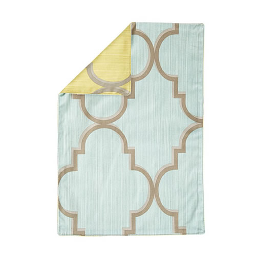 Vietri Aqua and Citrine Trellis Accent Placemat