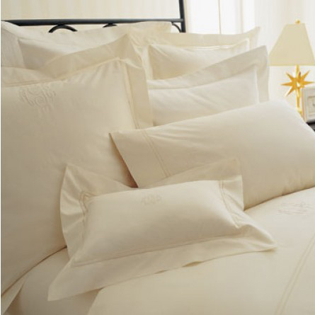 Peacock Alley Lyric Pillow Cases Ivory