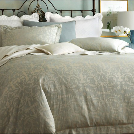 Peacock Alley Marcella Duvet Cover in Mist