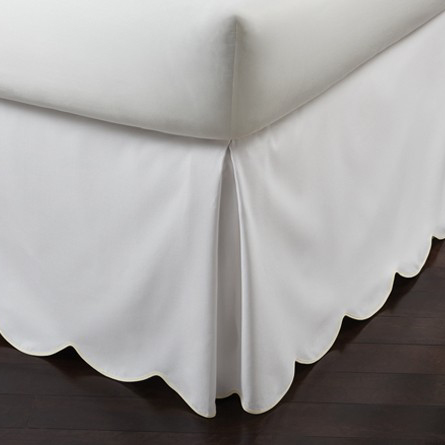 Peacock Alley Pique Scalloped Bedskirt