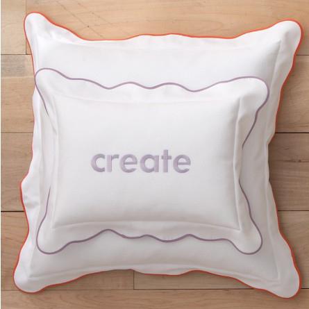Peacock Alley Pique Scalloped Decorative Pillow
