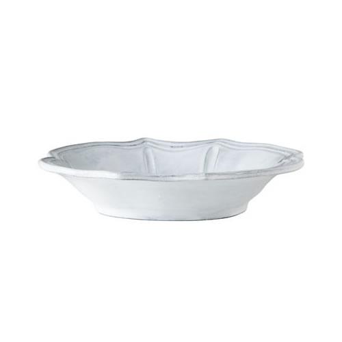Vietri Incanto White Baroque Pasta Bowl