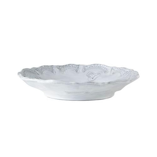 Vietri Incanto White Lace Pasta Bowl