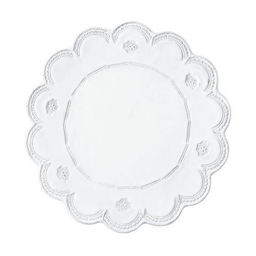 Vietri Incanto White Lace Service Plate / Charger