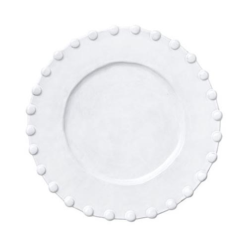 Vietri Incanto White Pearl Border Service Plate/Charger