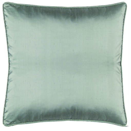 Lili Alessandra Lynn European Pillow in Blue Silk