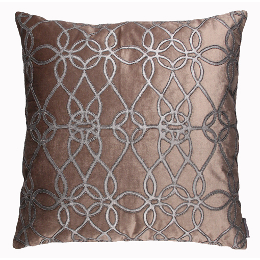 Lili Alessandra Gypsy Square Pillow in Champagne Velvet
