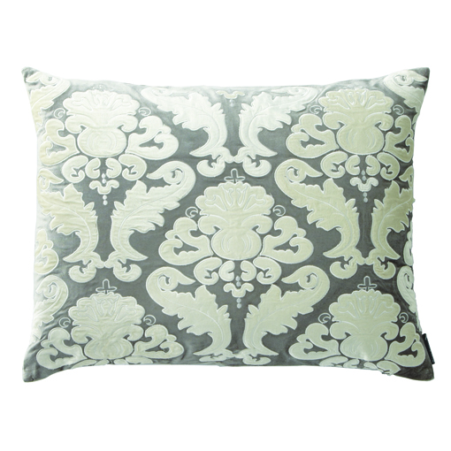 Lili Alessandra Versailles Silver Velvet Pillow