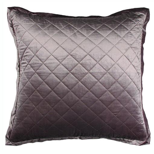Lili Alessandra Chloe European Pillow in Silver Velvet