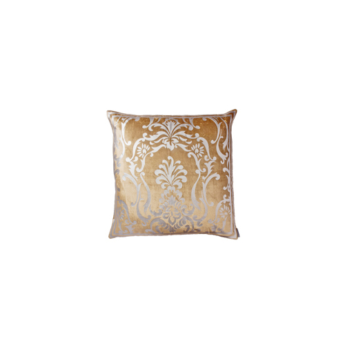 Lili Alessandra Olivia European Pillow in Blue/Silver Silk Linen