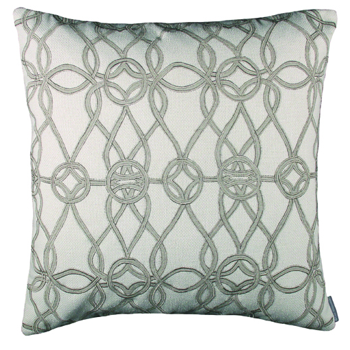 Lili Alessandra Gypsy Square Pillow in Ivory Natural Linen