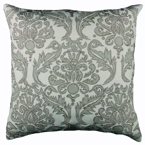 Lili Alessandra Versailles Square Pillow in Ivory Natural Linen