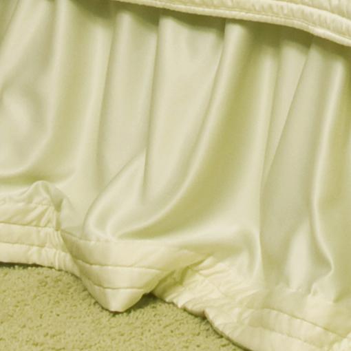 Lili Alessandra Silk & Sensibility Gathered Bed Skirt in Ivory/Ecru