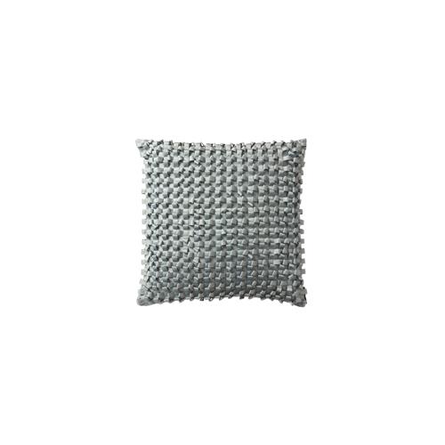 Lili Alessandra Silk & Sensibility Ribbon Square Pillow in Blue
