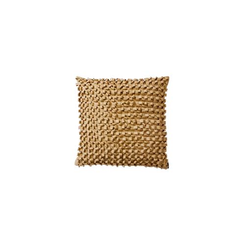 Lili Alessandra Silk & Sensibility Ribbon Square Pillow in Ecru