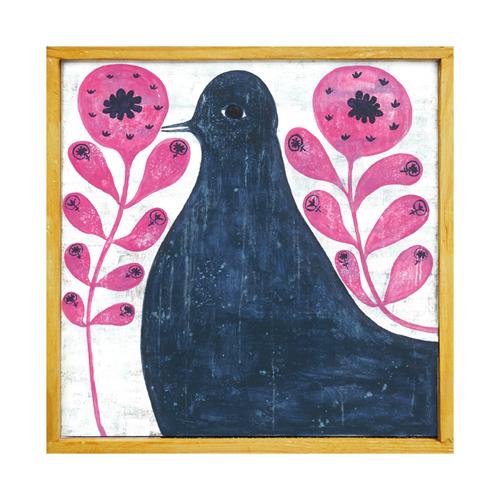 Sugarboo Blk Bird in Flowers