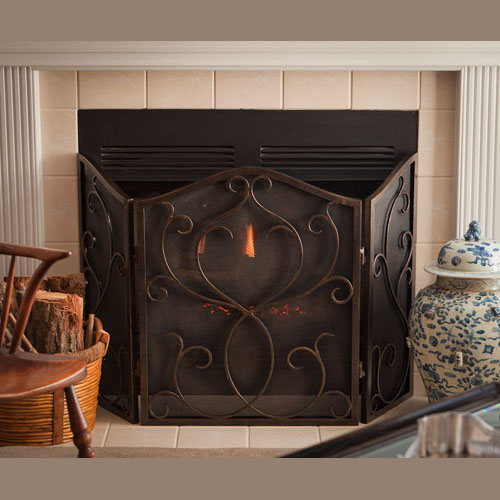 Dessau Flare Scroll Mesh Firescreen