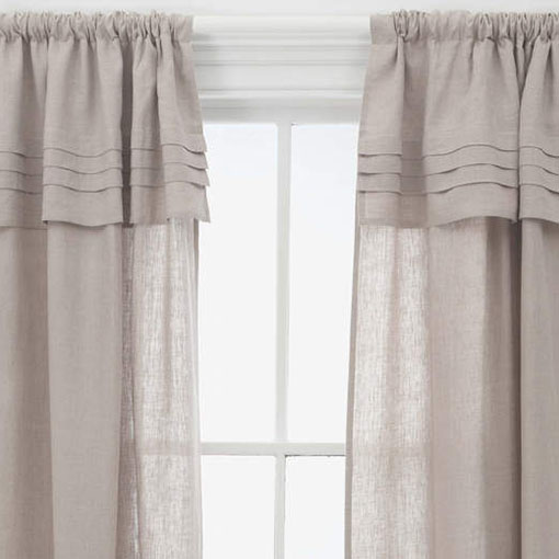 Pine Cone Hill  PLEATED LINEN NATURAL WINDOW PANEL