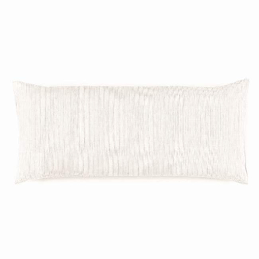Pine Cone Hill  PINSTRIPE LINEN DOVE GREY DECORATIVE PILLOW