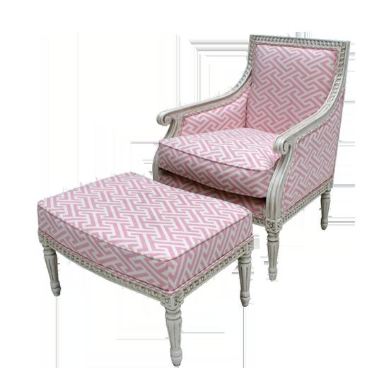 Oly Studio Petite Hanna Chair & Ottoman