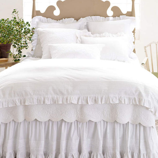 Pine Cone Hill  LOUISA WHITE BED SKIRT