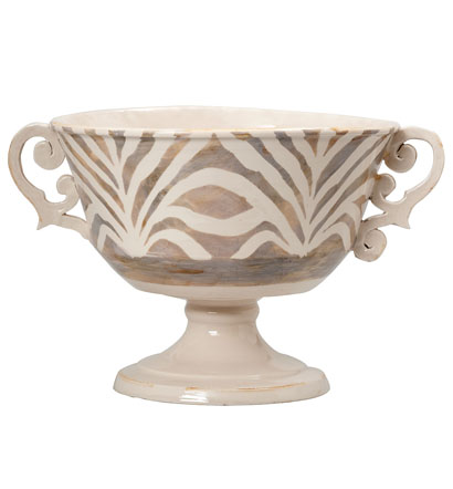 Vietri Safari Large Pedestal Bowl