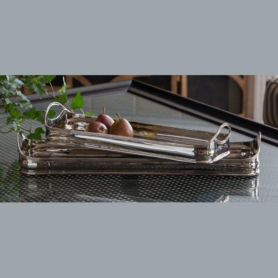 Dessau Nickel Rectangular Tray