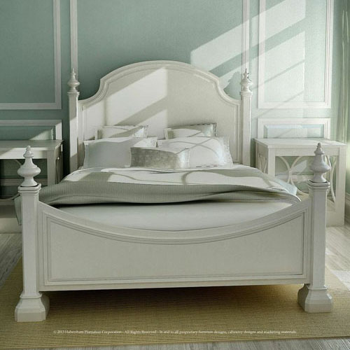 Habersham Sea Island Queen Bed, Low Post