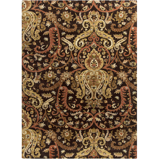 Surya Ancient Treasures Charcoal, Chocolate Brown, Mocha, Olive, Mocha, Beige, Moss, Olive, Beige, Ivory, Brick