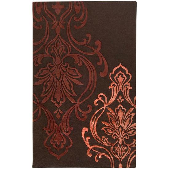 Surya Modern Classics Chocolate Brown, Rust, Butter