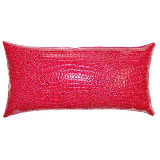 Square Feathers circus croco hot pink