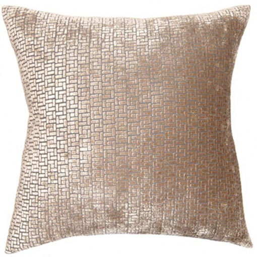 Square Feathers pewter weave
