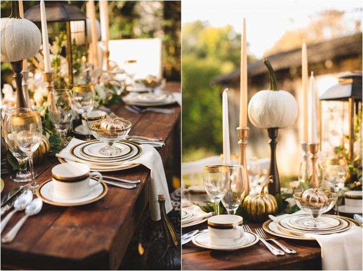 Get the look an elegant thanksgiving table setting Modern fall table decorations
