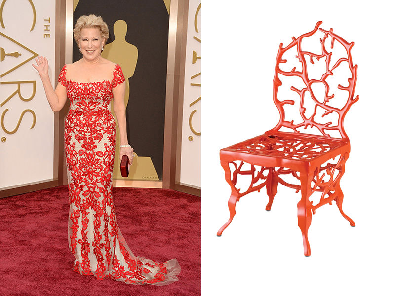 bette midler and chair