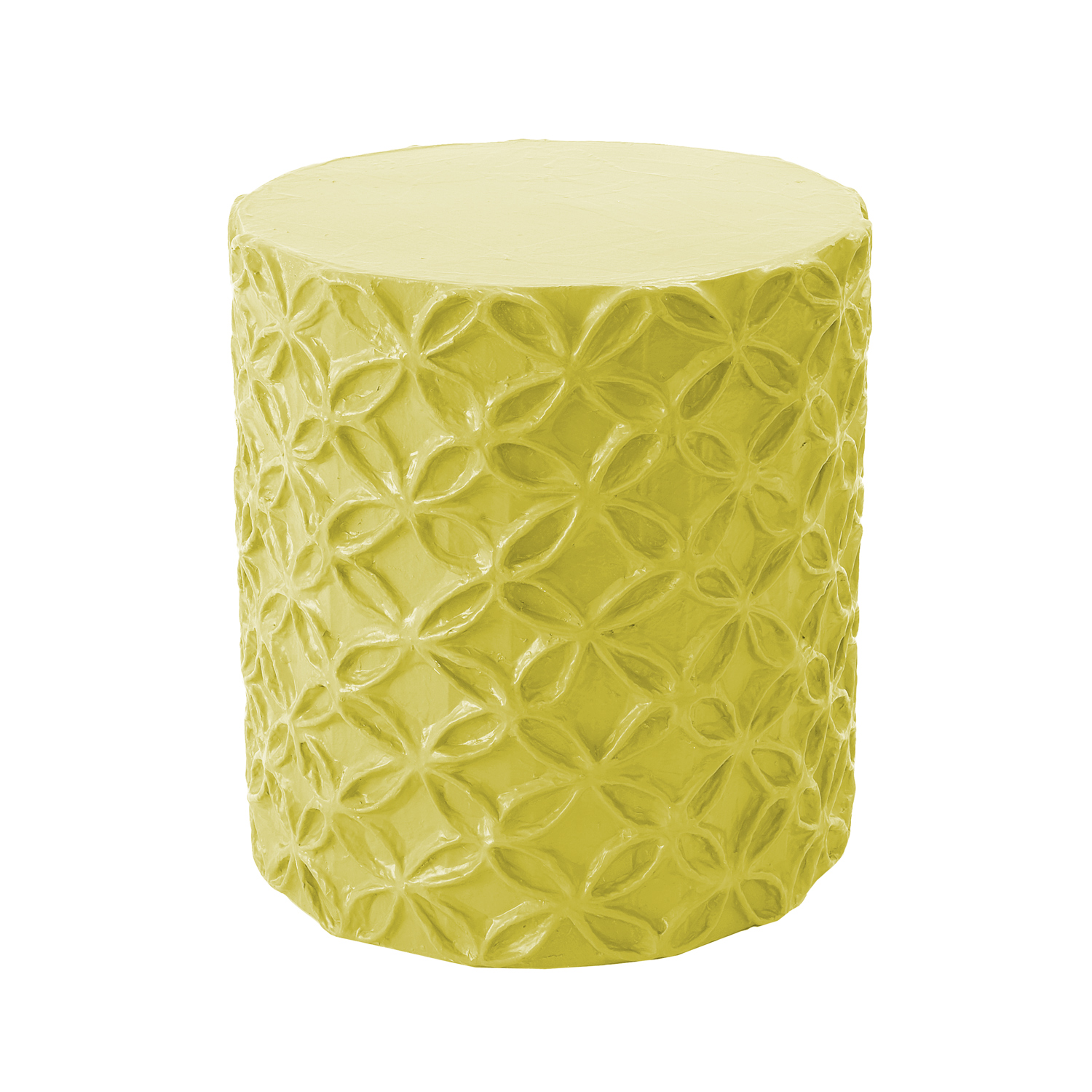 flower-stool-accent-table-chartreuse
