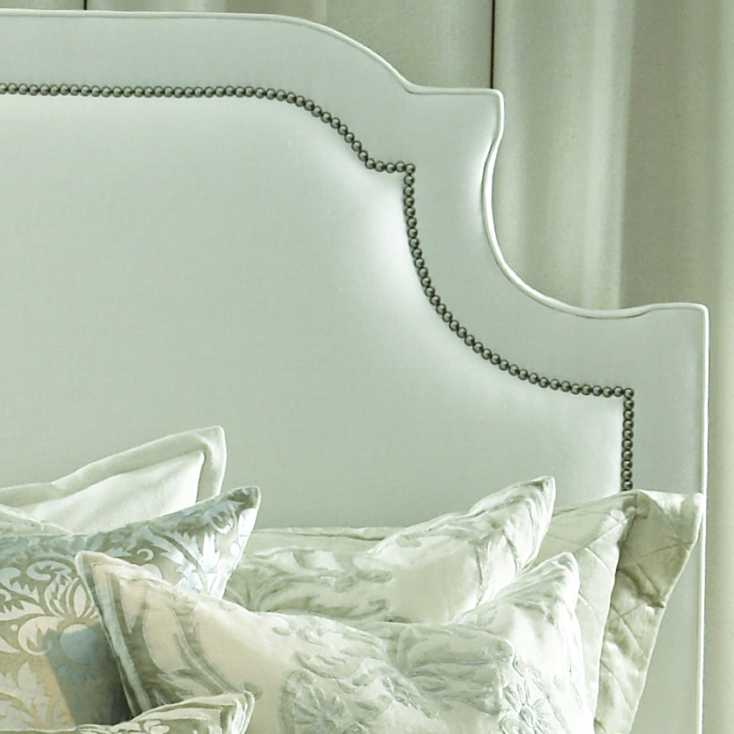 Marilyn Headboard in White Linen