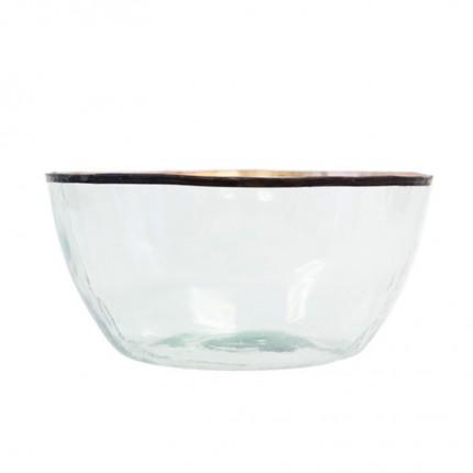 Clear Tin Balon Glass Bowl