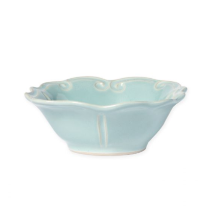 Vietri Incanto Aqua Baroque Cereal Bowl