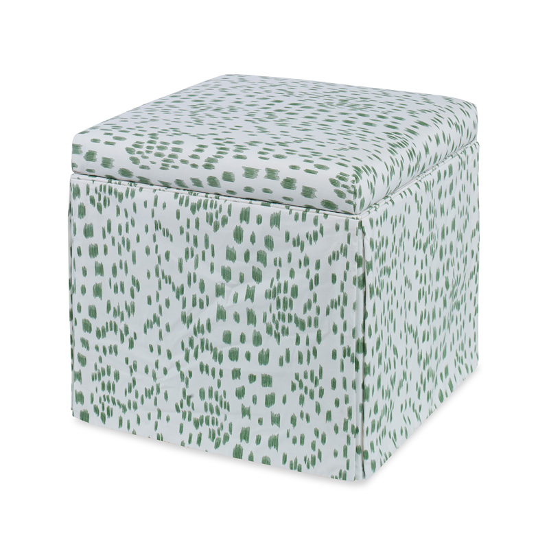 Fabulous Roman Storage Ottoman Les Touches In Green Ocoug Best Dining Table And Chair Ideas Images Ocougorg